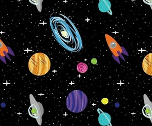 galaxy, planets, and solar system image