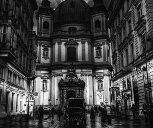 architecture, b&w, and beauty image
