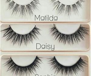 beauty, daisy, and eyelashes image