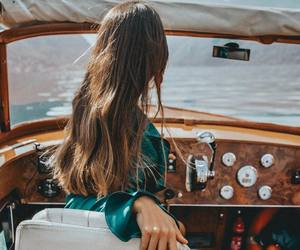 girl, ocean, and travel image