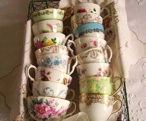 vintage, cup, and tea image