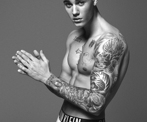 black and white, horny, and justin image