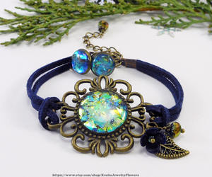 etsy, cord bracelet, and colorful earrings image