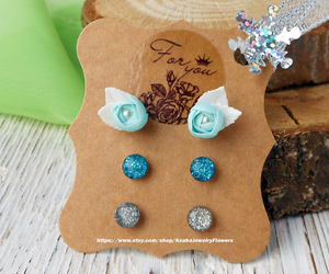 etsy, small stud earrings, and tiny earrings image