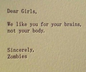 girls and zombie image
