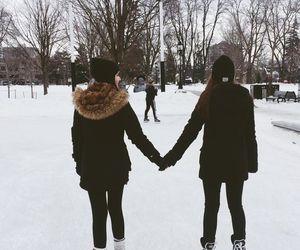 girls, ice skating, and tumblr image