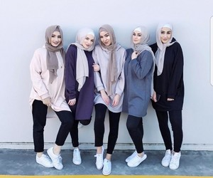 hijab, fashion, and girls image