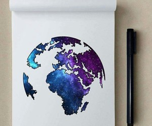 art, world, and drawing image