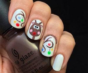 christmas nails, xmas nails, and christmas nail art image