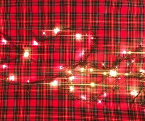 christmas, shiny, and tartan image