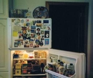 food, fridge, and kitchen image