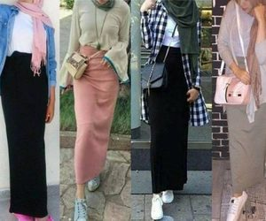 pencil skirt with hijab image