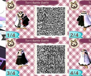 animal crossing, outfit, and qr image
