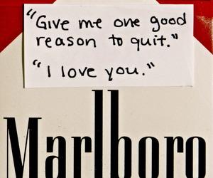 love, cigarette, and marlboro image
