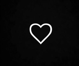 heart, black, and wallpaper image