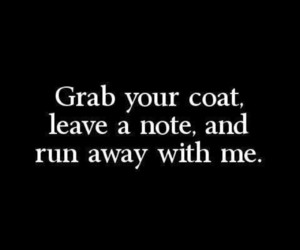 note, away, and coat image