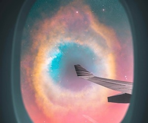 galaxy, travel, and airplane image