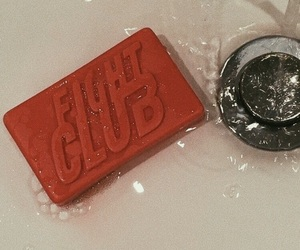 fight club, red, and aesthetic image