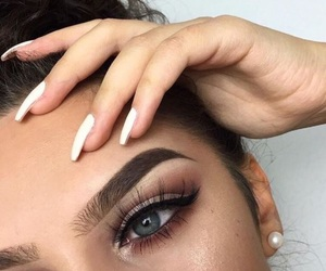 eyeliner, eyes, and highlights image