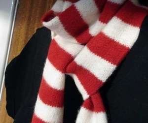 red and white scarf image