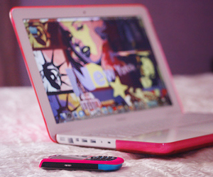 pink, laptop, and blackberry image