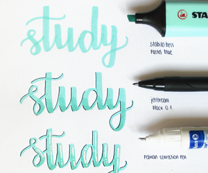 school, study, and calligraphy image