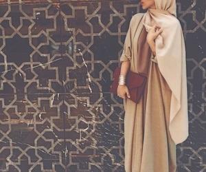 hijab, style, and abaya image