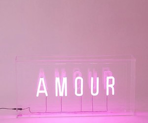 pink, neon, and amour image