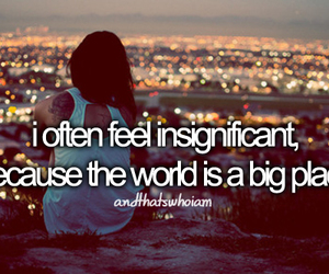 alone, insignificant, and text image