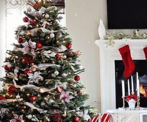 christmas tree, holidays, and festive image