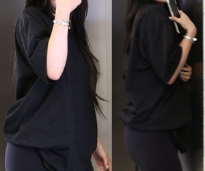 style, black outfit, and casual style image
