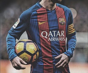 football, messi, and Barcelona image