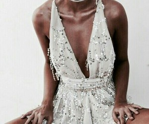 dress, jewelry, and girl image