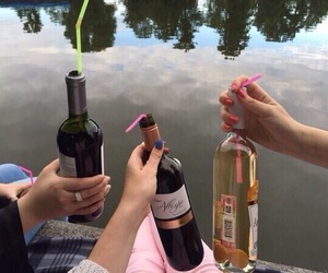 friends, wine, and alcohol image
