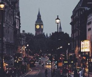 london, city, and light image