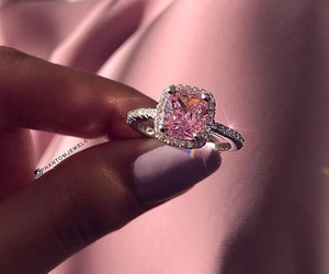 pink, ring, and diamond image