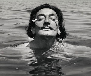 dali and black and white image