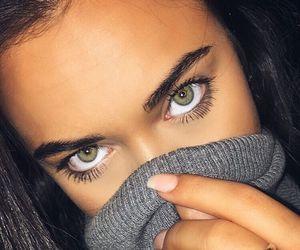 eyes, girl, and eyelashes image