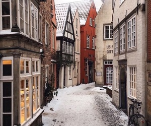winter, travel, and city image