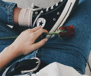 rose and converse image