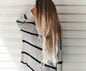 fashion, sweater, and blonde image