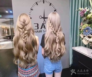 blonde hair and long hair image
