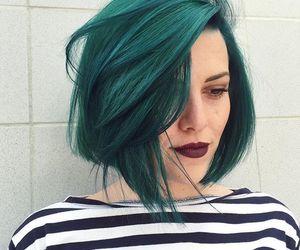 green and hair image