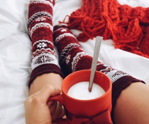 red and socks image