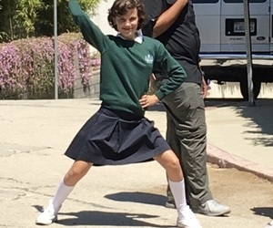 theme, stranger things, and millie bobby brown image