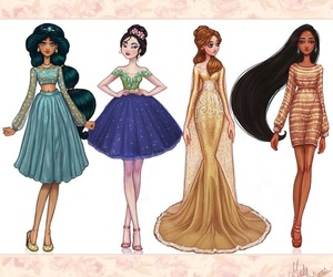 disney, dress, and jasmine image