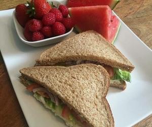 food, sandwich, and sandia image