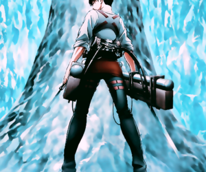 levi ackerman, anime, and snk image