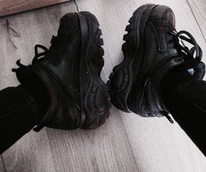 black, gray, and sneakers image