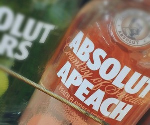 absolut, peach, and vodka image